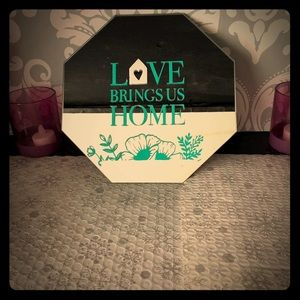 Love Brings Us Home Glass